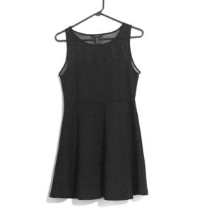 LBD with an illusion sweetheart neckline